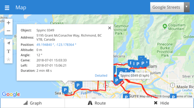 google maps gps tracking devices